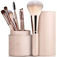 NORIDA Makeup Brush Set - 7 Pcs Make Up Brushes for Blush Eye brow Cosmetics Eyeliners Eye shadow Foundation Make Up Travel Set with Holder