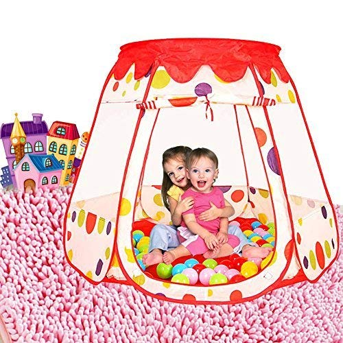 Optional Cover Rigid - Aweoods Children's Portable Pop-up Play Tent Indoor and Outdoor Play House Ideal Toy Gifts for 1 to 8 Year Old Kids, Balls Not Included by Hommie