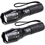 LED Tactical Flashlight, BINWO Super Bright High Lumen XML T6 LED Flashlights Portable Outdoor Water Resistant Torch…