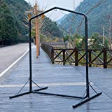 Lazy Daze Hammocks Deluxe Heavy Duty Coated Steel Swing Stand, Black, Capacity 450 Pounds