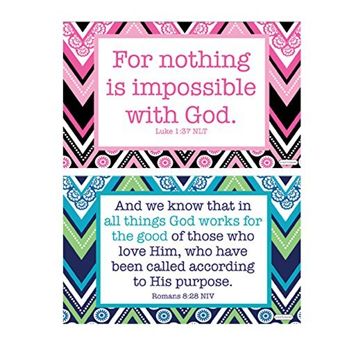 Nothing Is Impossible Luke 1:37 and Romans 8:28 Two Pack Decals