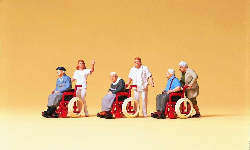 Preiser 10479 Rollstuhlfahrer mit Pfleger