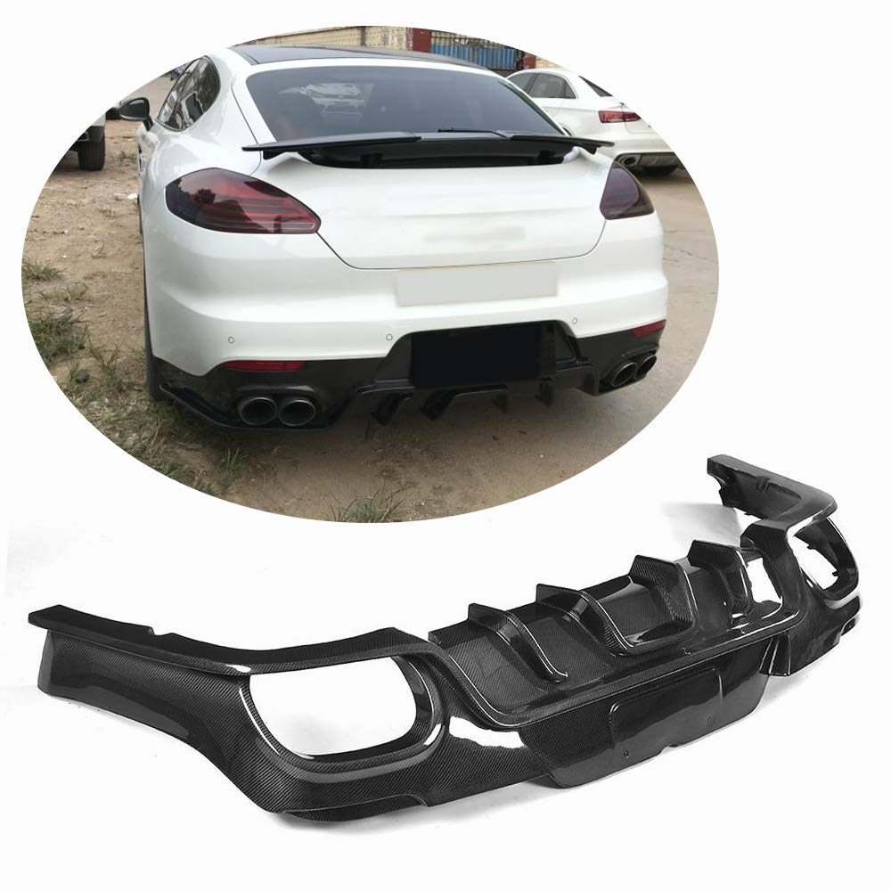 Amazon.com: MCARCAR KIT Rear Diffuser fits Porsche Panamera 2014-2016 Carbon Fiber CF Lower Bumper Lip Spoiler Body Kit: Automotive