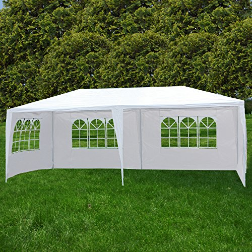 Uenjoy 10'x20' Party Tent Canopy Wedding Tent Event Tent Outdoor Gazebo White with 4 Sidewall by Uenjoy