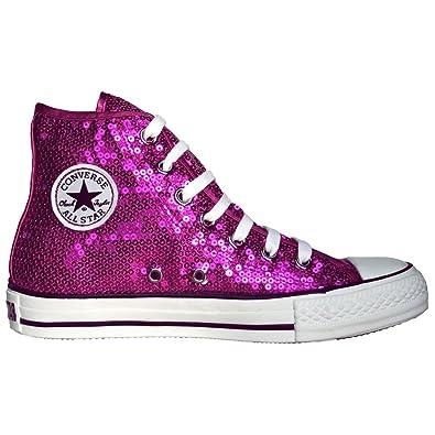 36f11eaef9e1d Converse All Star Chucks Limited Edition Sequins Pailletten Magenta Pink  Größe  36