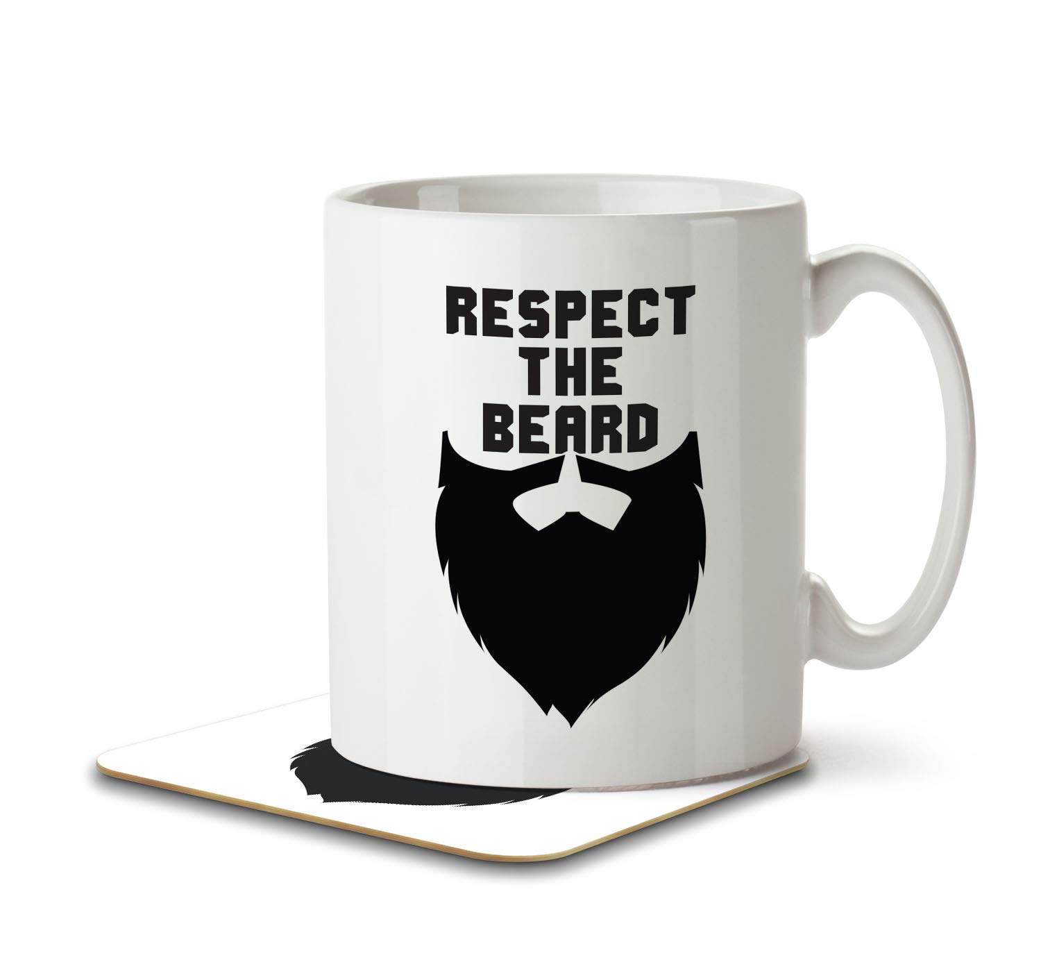 Respect the Beard - Mug and Coaster By Inky Penguin The Inky Penguin