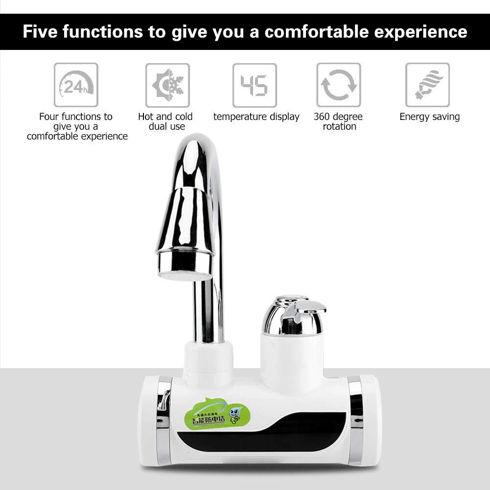 Instantáneos Calentadores de Agua Eléctrico Digital de Temperatura Calentador de Agua Caliente y Fría (2#): Amazon.es: Hogar
