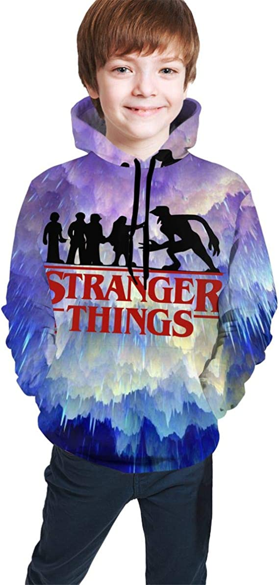 Cozystore Childrens Hoodies Stranger Things 3D Print Hooded Sweater Sweatshirts for Kids//Youth//Boys//Girls