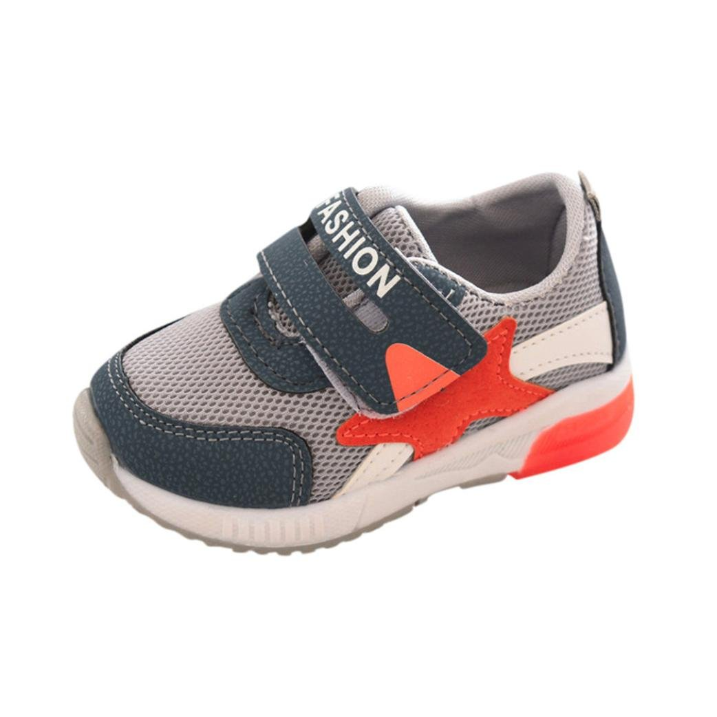 Sunbona Toddler Baby Boys Girls LED Light Up Mesh Light Weight Breathable Sports Running Sneakers Shoes