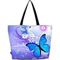 Meffort Inc Lightweight Travel Beach Tote Bag Foldable Reusable Shopping Shoulder Hand Bag