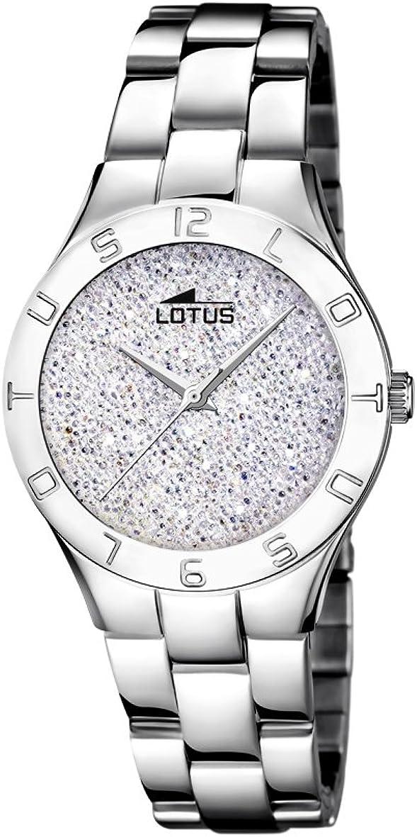 Lotus Watches Reloj Análogo clásico para Mujer de Cuarzo con Correa en Acero Inoxidable 18568/1