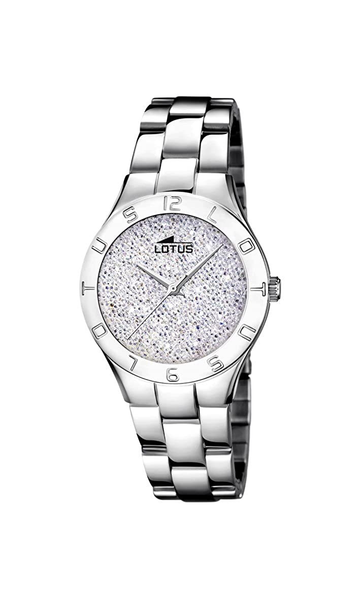 Amazon.com: Lotus Bliss Watch for woman White dial Swarovski crystals 18568/1: Watches