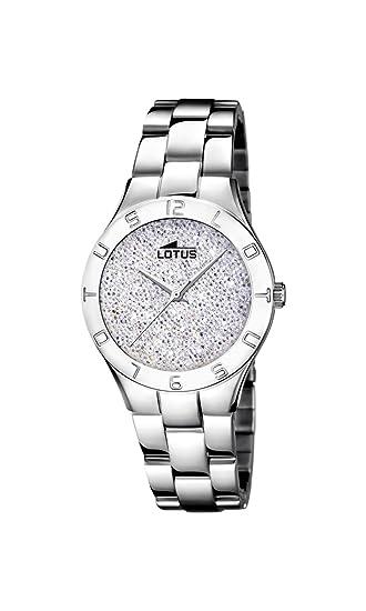 3114b05a01b2 Lotus Watches Reloj Análogo clásico para Mujer de Cuarzo con Correa en Acero  Inoxidable 18568 1  Amazon.es  Relojes