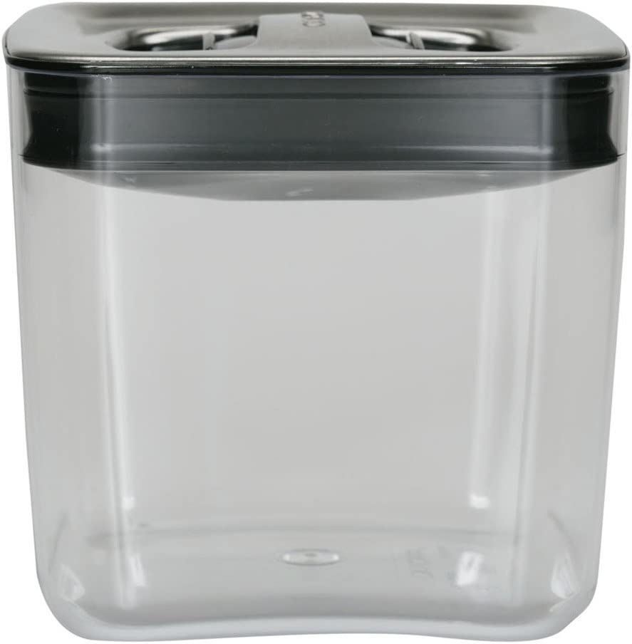 Click Clack Cube 1-1/2-Quart Storage Container with Stainless Steel Lid