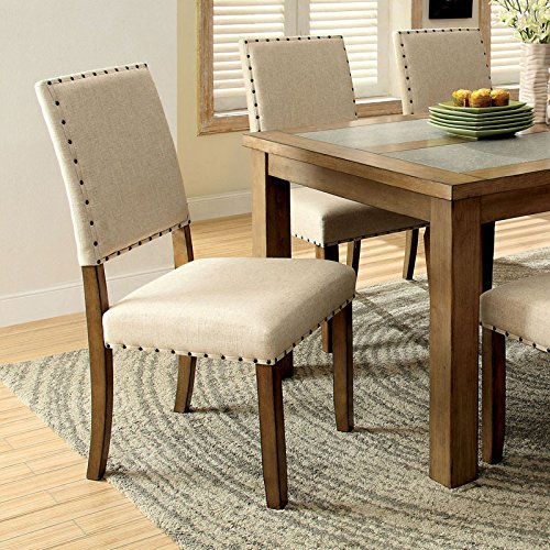 Country Dining Table With Bench: Melston Country Style Vintage Oak Finish 4-Piece Dining