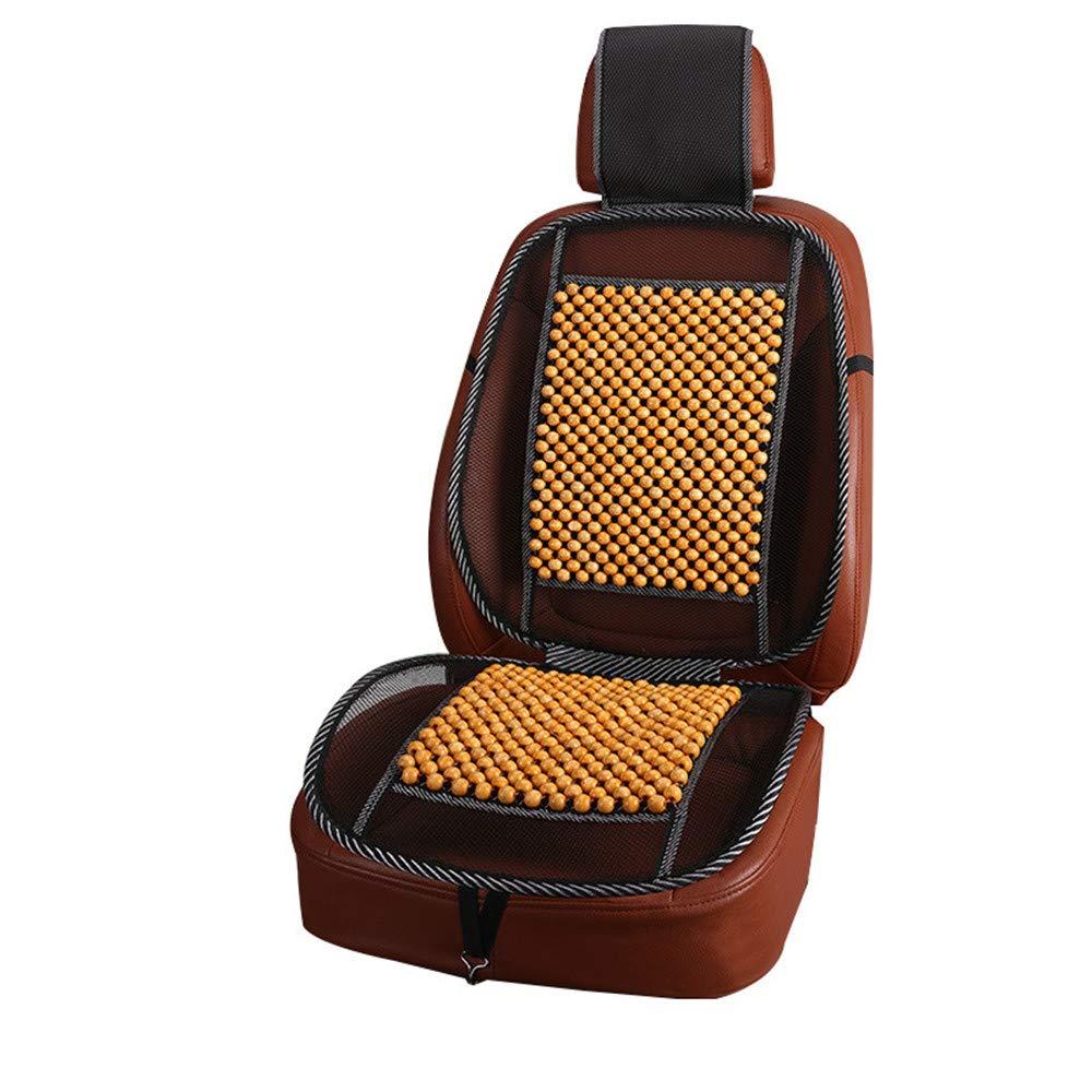 Sommer Holzperlen Sitzauflage f/ür Autositze GLITZFAS Auto Sitzauflage Sitzmatte Holzkugel mit universeller Passform Braun