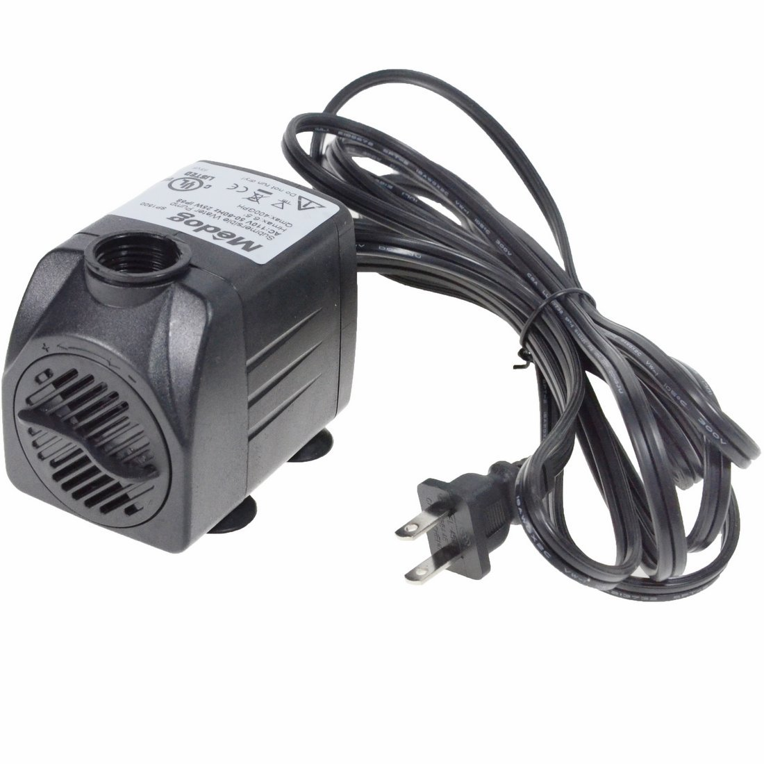 Medog Pond Submersible Water Pump with 25W Aquariums, 400GPH Hydroponics, Fountains, Ponds, Statuary, Waterfalls with UL Certification (400GPH)