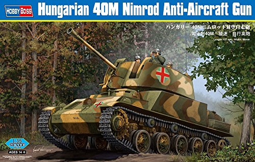 Hobby Boss Hungarian 40M Nimrod Anti-Aircraft Gun Model Kit (Anti Air Models Gun)