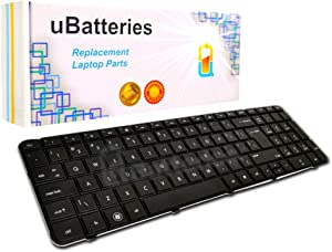 UBatteries Compatible Laptop Keyboard Replacement for HP Pavilion Envy G7 G7T G7-1000 G7T-1000 646568-001 633736-001 640208-001 US Layout/Black-Big Enter Key
