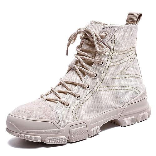 De Botas Mujer Motocicleta Clásico Calzado Zapatos Plataforma Arrwx0F