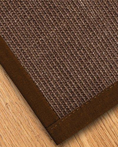 NaturalAreaRugs Linden Collection Sisal Area Rug, Handmade in USA, 100% Sisal, Non-Slip Latex Backing, Durable, Elegant, Stain Resistant, Eco/Environment-Friendly, (2 Feet x 3 Feet) Brown Border