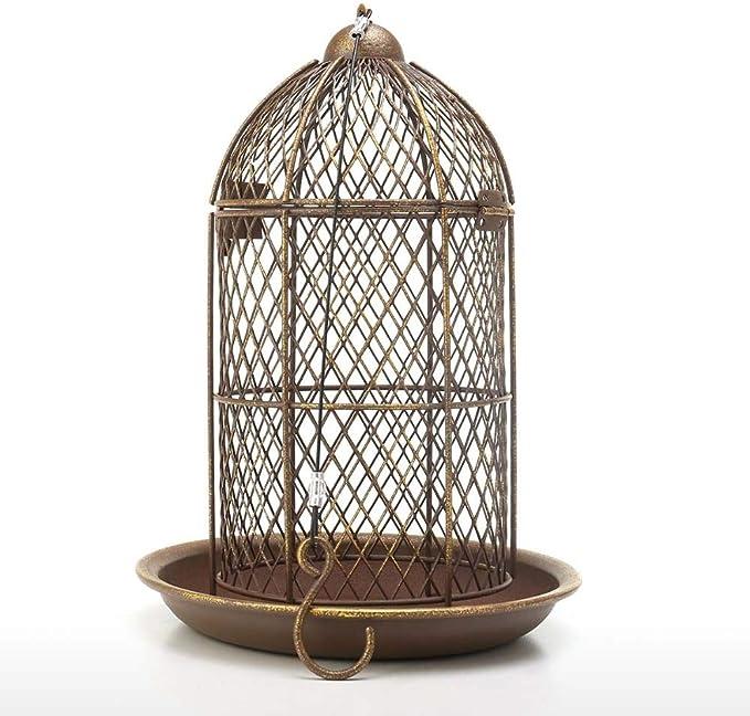 MissLi Alimentador De Pájaros, Alimentador De Jaula De Pájaros, Alimentador Colgante De Metal para Casa De Pájaros Silvestres, Decoración De Jardín, Accesorio De Jaula De Pájaros, Regalo