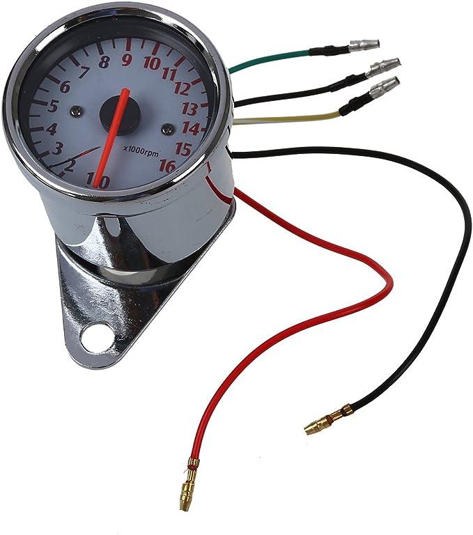 Cikuso Universal Motorrad Drehzahlmesser Tachometer Anzeige Anzeige 0 16000u Min Auto