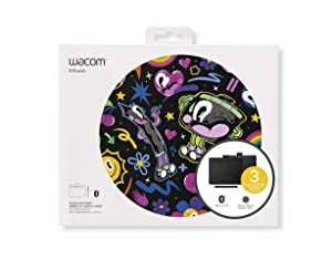 "Wacom Intuos Wireless Graphics Drawing Tablet with 3 Bonus Software Included, 7.9"" x 6.3"", Black (CTL4100WLK0)"