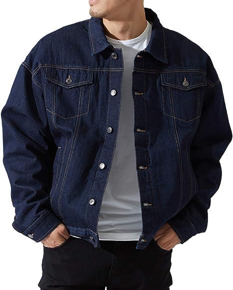 デニムジャケット メンズ ボア あったか 暖かい 裏ボア Gジャン ジャケット ビッグシルエット ゆったり 大きいサイズ オーバーサイズ 青 アメカジ GRACIAS
