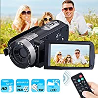 Digital Video Camera Camcorders, ROFISA Portable Handheld Video Camcorder HD Max 24.0 MP with IR Night Vision DC 3.0 inches LCD Screen Camera Recorder