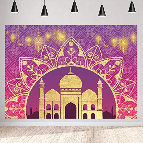 - Arabian Nights Moroccan Party Photography Backdrop 7x5ft Magic Genie Theme Party Backdrops Indian Bollywood Party Happy Birthday Background Baby Shower Party Decorations Vinyl Photo Banner