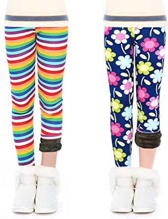 OioTuyi Leggings Lana Invierno Térmicos Algodón Forros para Niña En Mallas Leggings Puntos Elástico Pantalones Plus Espesamiento Leggins 3-10 años