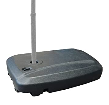Good EasyGoProducts Universal Offset Umbrella Base Weight Capacity   Plastic  Weighted Stand   Fill With Water Or