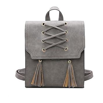 RFVBNM Mochila flecos doble bandolera bolsa chica bolsa mochila mujer hombro bolso Coreano moda estudiante viaje picnic bolsa 27 * 11 * 31cm, ...