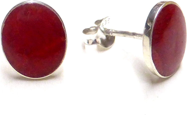 Pendientes de coral rojo con plata de ley 925, joyas, regalo