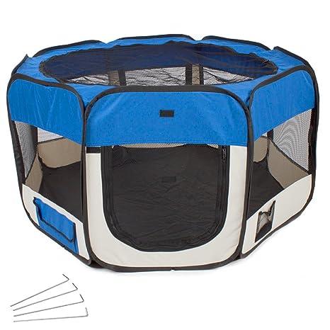 TecTake Parque para cachorros recinto parque para animales perros gatos - disponible en diferentes colores -