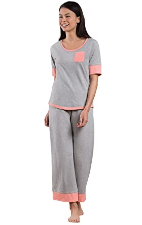 PajamaGram Cotton Pajamas Women Cozy - Capri Womans Pajamas 49be9a2de