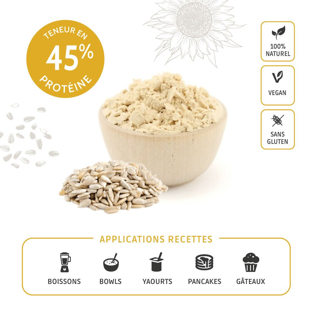 Proteína de girasol Bio Certificado en polvo | bolsita de ...