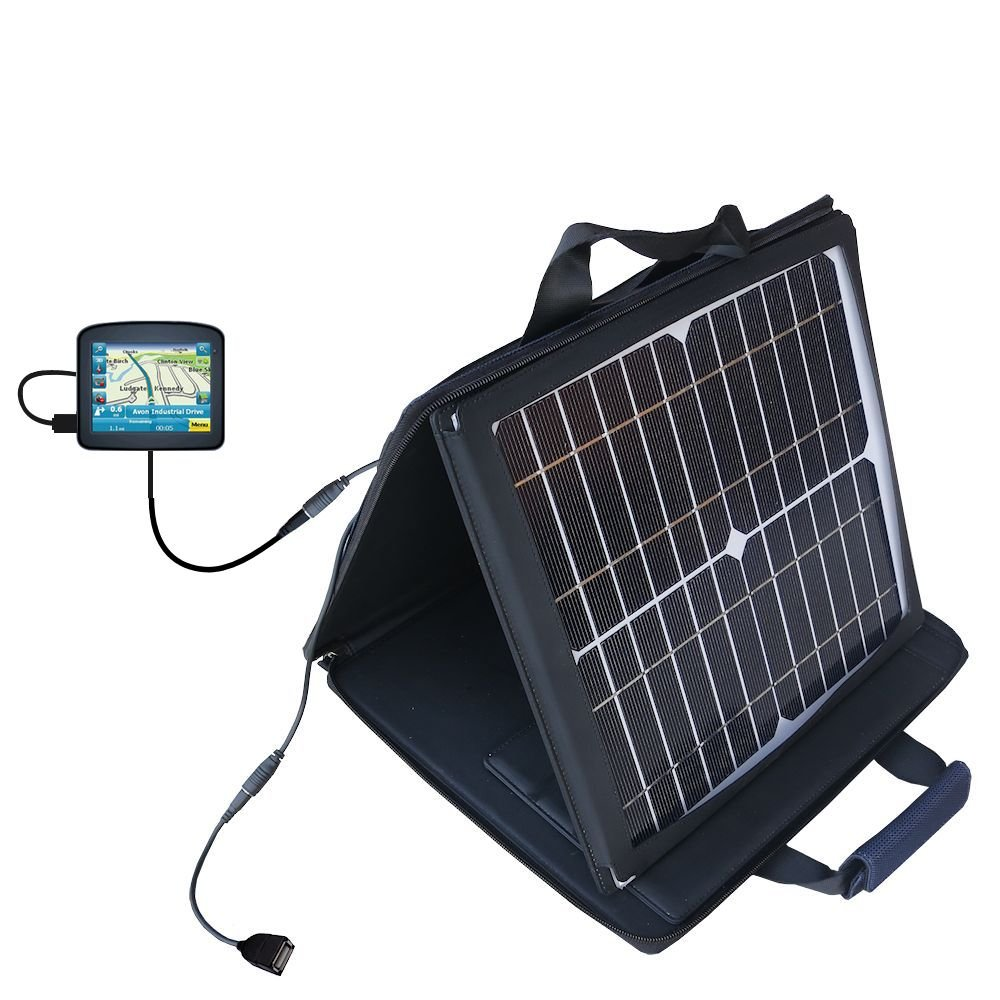Maylong FD-250 GPS For Dummies compatible SunVolt Portable High Power Solar Charger by Gomadic - Outlet- speed charge for multiple gadgets by Gomadic