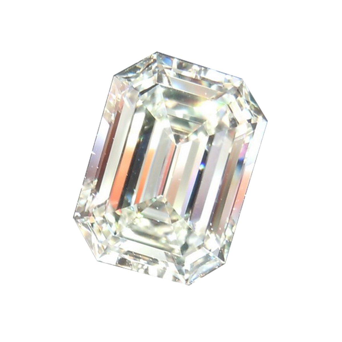 RINGJEWEL 1.66 ct VVS1 Emerald Cut Real Loose Moissanite Use 4 Pendant/Ring Genuine White I-J Color