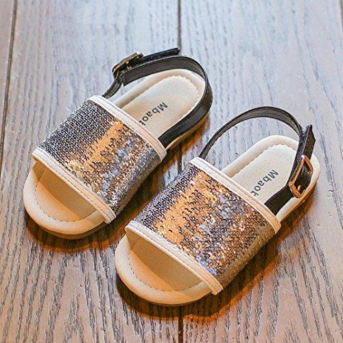 Transer Sommer Kleinkind Kinder Baby Mädchen Pailletten Strand Sandalen Prinzessin Roman Rutschfeste Single Pailletten Schuhe Sl