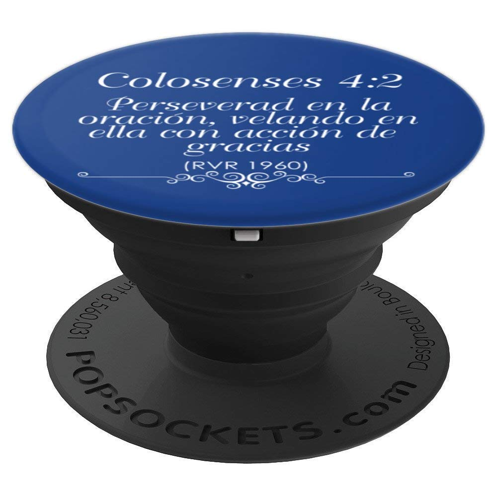 Amazon.com: Popsockets Para Celular Con Cita Biblica Colosenses 4:2 - PopSockets Grip and Stand for Phones and Tablets: Cell Phones & Accessories