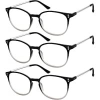 64462706ac17 Reading Glasses 3 Pair Stylish Color Readers Fashion Glasses for Reading  Men   Women