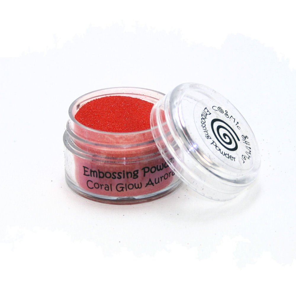 Cosmic Shimmer Aurora Embossing Powder Enamel Based, Coral Glow/Clear Creative Expressions CSEPCOR