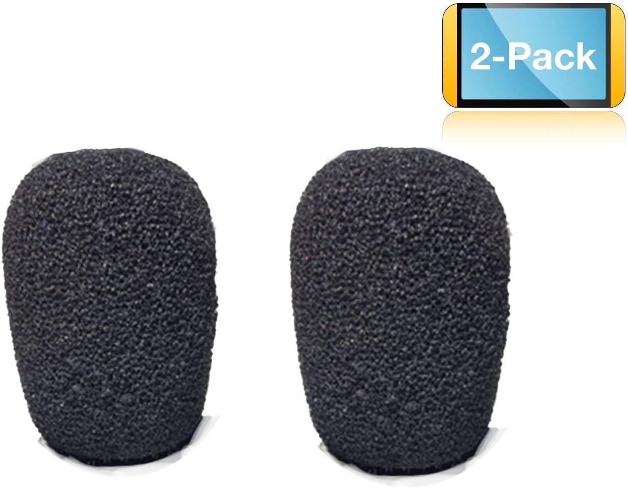 Universal Foam Microphone Windscreens | Use with BlueParrott B250, B350, Plantronics, Jabra, VXi - Lux, Passport, Liberation - 2 pack #GTW 8700-02 [並行輸入品]