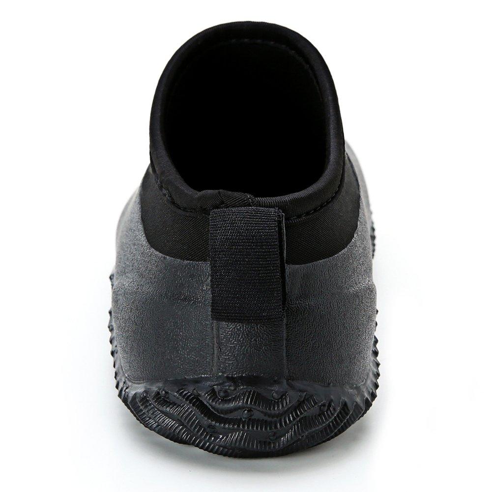 Hellozebra Mens Neoprene Rain and Gardening Shoes
