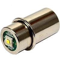 HQRP High Power 3w LED Bulb for Maglite 3D 4D 5D 6D / 3C 4C 5C 6C Cell Torch Flashlights Conversion Bulb Upgrade Plus…