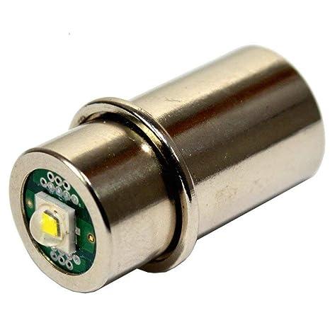 HQRP High Power 3w LED Bulb for Maglite 3D 4D 5D 6D / 3C 4C 5C 6C / 3-4-5-6  D/C Cell Torch Flashlights Conversion Bulb Upgrade plus HQRP Coaster