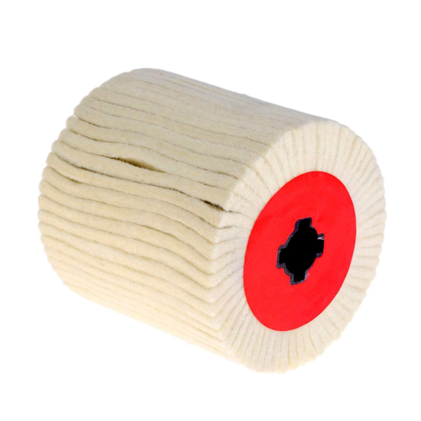 HeroStore 1Pc 100mm/120mm Abrasive Drum Wool Brush Polishing Grinding Buffing Striping Wheel for Electric Wire Drawing Machine