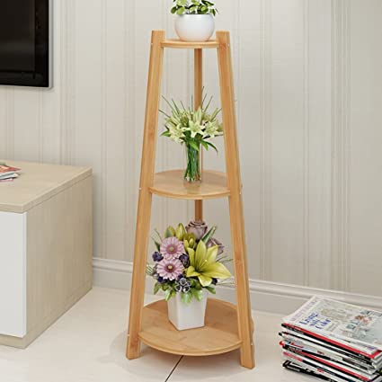 Flower Rack Bookshelf Floor Shelf Finishing Shelves Storage Simple Living Room Size